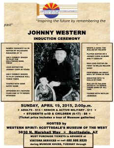 April 19, 2015 - Johnny Western Induction